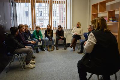 Foto: Kinder und Jugendliche aus Wittenberge diskutierten im künftigen Jugendkulturzentrum in der Schillerstraße I Foto: Martin Ferch