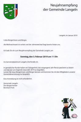 Foto zur Meldung: Neujahrsempfang der Gemeinde Langeln.