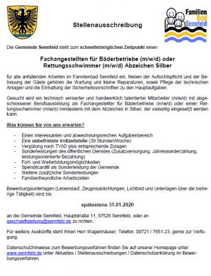 Fachangestellten für Bäderbetriebe (m/w/d) oder Rettungsschwimmer (m/w/d) Abzeichen Silber