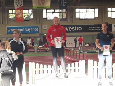 Vorschaubild zur Meldung: Jessica Wlodasch wird mit Kreisrekord LVN-Hallenmeisterin