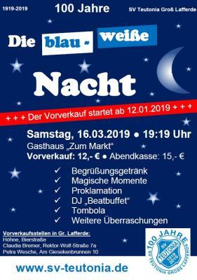 Vorschaubild zur Meldung: Die blau- weiße Nacht! Kartenvorverkauf hat begonnen