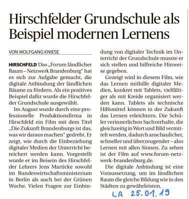 Vorschaubild zur Meldung: Hirschfelder Schule als Beispiel für modernes Lernen