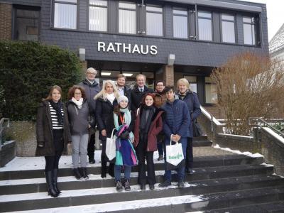 Foto zur Meldung: Brasilianische Schüler als Praktikanten zu Gast bei Rheinböller Firmen
