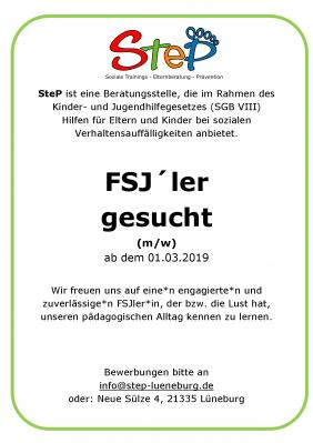 Vorschaubild zur Meldung: FSJ gesucht ab sofort