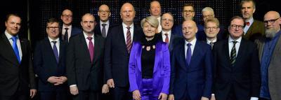 Die Kammerpräsidenten und der LFB-Präsident Thomas Schwierzy