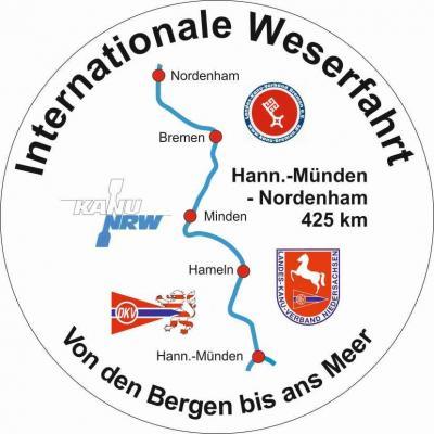 Foto zur Meldung: 2. Internationale Weserfahrt im Juli 2019: Anmeldung bis Ende März möglich