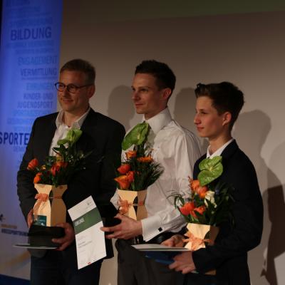 Archivfoto (OKSB): Sportler des Jahres 2017 (links: Heiko Sandig)