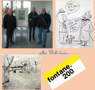 """Foto zur Meldung: Museumsteam besucht Ausstellung in der Sparkasse:  """"… aller Welt Enden…"""" Fontane 2019"""
