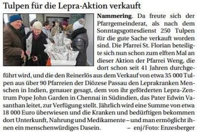 Vorschaubild zur Meldung: Tulpen für Lepra-Aktion verkauft