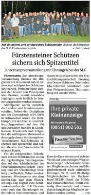 Vorschaubild zur Meldung: Fürstensteiner Schützen sichern sich Spitzentitel