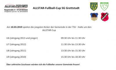 Vorschaubild zur Meldung: Allstar Fußball-CUP SG Grettstadt am 10.3.2019