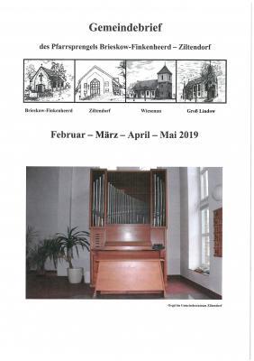 Vorschaubild zur Meldung: Gemeindebrief Februar 2019 - Mai 2019