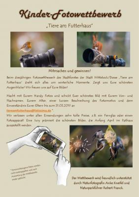 """Kinder-Fotowettbewerb """"Tiere am Futterhaus"""""""