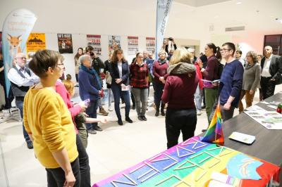 In der Stadthalle fand die erste Werkschau der Partnerschaft für Demokratie - Falkensee statt. (Bildautorin Christina Gericke)