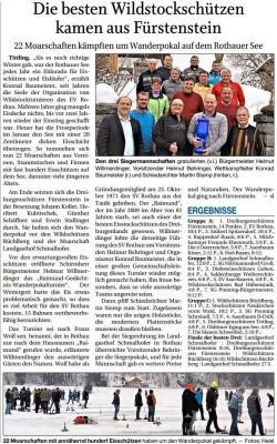 Vorschaubild zur Meldung: Die besten Wildstockschützen kamen aus Fürstenstein