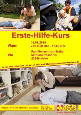 Foto zur Meldung: 16.02.19 | 09.00-17.00 Uhr: *kostenfrei* Erste Hilfe Kurs im Familienzentrum Nahe