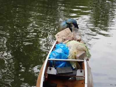 Müllsammelaktion des Kanubezirks Hannover