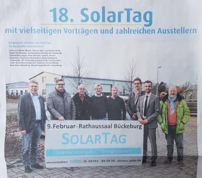 Foto zur Meldung: 18. Solartag in Bückeburg