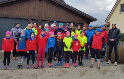 Foto zur Meldung: Vereinsinterner Winterlauf ist nun schon Tradition
