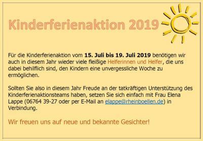 Vorschaubild zur Meldung: Helfer/innen für KiFA 2019 gesucht!