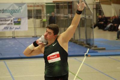David Storl gewinnt den Wettbewerb der Männer (Foto Jurk, Bergen auf Rügen)