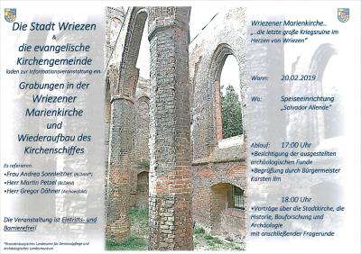 Vorschaubild zur Meldung: Informationsveranstaltung - Grabungen in der Wriezener Marienkirche