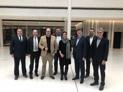 Foto zur Meldung: Hauptverwaltungsbeamte führten in Hannover Gespräche mit den Landtagsabgeordneten