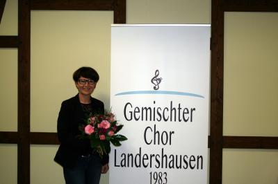 Katrin Knott wurde als Chorleiterin geehrt.
