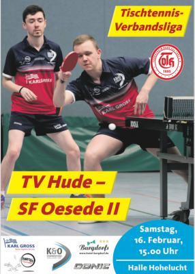 Vorschaubild zur Meldung: TT-Verbandsliga: Hude 1 mit Kantersieg gegen Tabellenschlusslicht SF Oesede