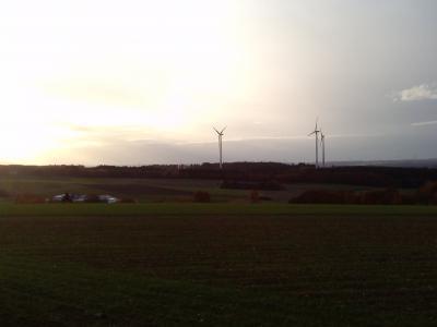 Foto zur Meldung: Stromproduktion der Windkraftanlagen