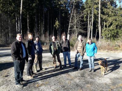 Foto zur Meldung: Waldbegehung