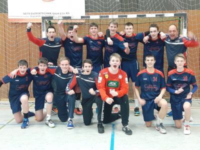 Foto zur Meldung: Hattrick perfekt: Handballer fahren wieder zum Bundesfinale in die Hauptstadt
