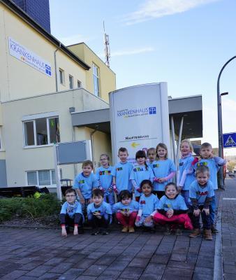 Die Vorschulkinder des Kindergartens Eulennest