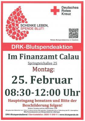 Foto zur Meldung: Blutspende-Termin im Calauer Finanzamt