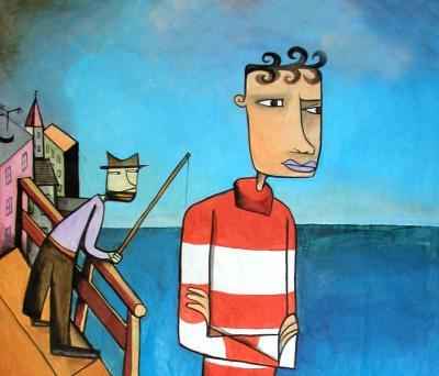 """Das Bild """"Wohin"""" des Malers Jim Avignon"""