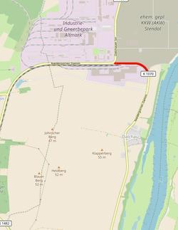 Foto zur Meldung: Nächster Abschnitt des Ausbaus der Kreisstraße K 1070 zum Zellstoffwerk Arneburg