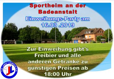 Vorschaubild zur Meldung: Einweihungs-Party im Sportheim