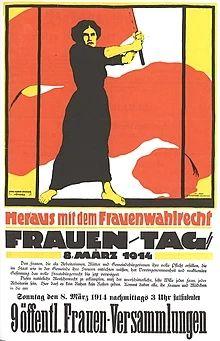 Plakat zum Wahlrecht der Frauen (1914)