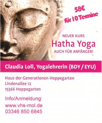 Vorschaubild zur Meldung: Neuer zusätzlicher Hatha Yogakurs ab dem 01.04.2019