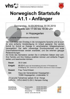 Vorschaubild zur Meldung: Neuer Sprachkurs: Norwegisch Startstufe 1.1 ab dem 14. März
