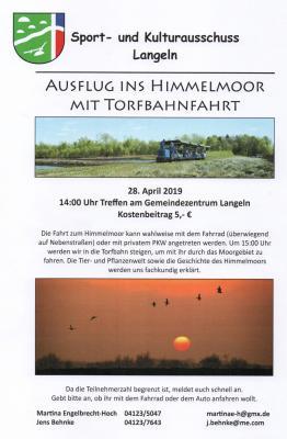 Foto zu Meldung: Ausflug ins Himmelmoor mit Torfbahnfahrt.