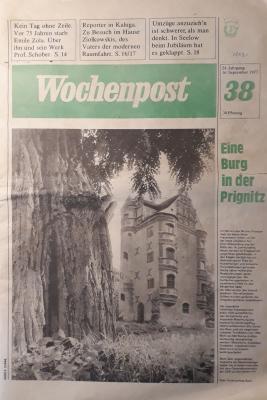 Foto zur Meldung: Zeitungsartikel von 1977: Denkmalpflege in der DDR