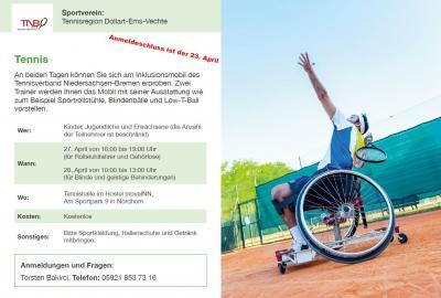 Ausschreibung Tennis Workshops