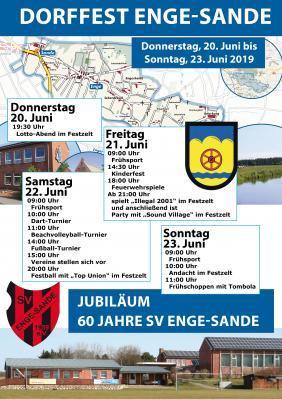 Vorschaubild zur Meldung: Dorffest und 60 Jahre Sportverein SV Enge-Sande (20.-23. Juni)