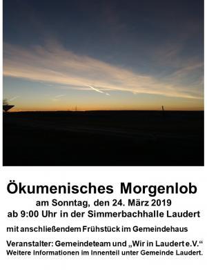 Vorschaubild zur Meldung: Ökumenisches Morgenlob am 24.03.2019