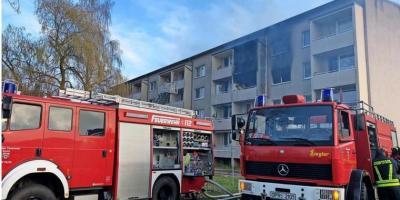 Foto zur Meldung: Alarm wegen Explosion: Wohnungen in Kyritz ausgebrannt