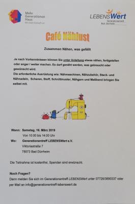 Foto zur Meldung: Café Nählust - Zusammen nähen, was gefällt