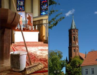 Foto zur Meldung: Frühjahrsputz in der Niemegker Kirche am 16.03.2019