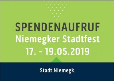 Vorschaubild zur Meldung: Spendenaufruf: Niemegker Stadtfest 2019