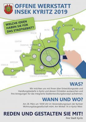 Vorschaubild zur Meldung: Für die Zukunft von Kyritz - offene Werkstatt für die Neu-Erarbeitung eines Integrierten Stadtentwicklungskonzepts für Kyritz